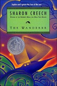 The Wanderer by Sharon Creech Creech has found a way to discuss death and dying and grief and loss in a way that isn't creepy but that is kind of introspective and sometimes humorous.  The stories are more about how the girl's carry on with their lives that are quite unique.  In The Wanderer, the main character, Sophie, sails across the ocean with her uncles and cousins.  In Walk Two Moons, Sal rides across the country with her very odd, but loving, grandparents.