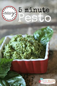 Easy Pesto Recipe | Freezes well too! TodaysCreativeBlog.net