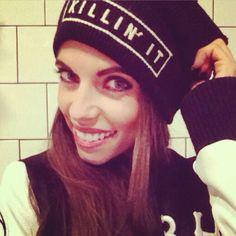 Spotted: The beautiful @carolineroxy rockin our #KillinIt #Beanie #BrandyMelville #PrettyGirl #Blogger #CarolineRoxy #Sweden #Swedish #brandyig