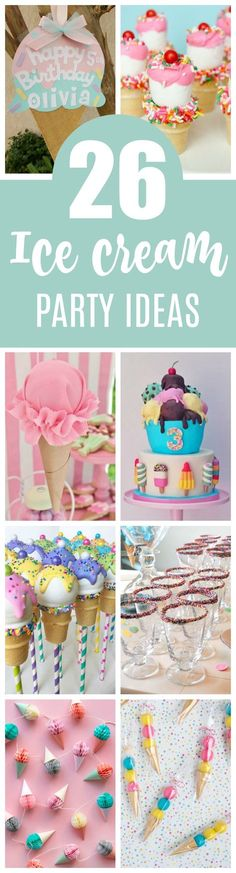 26 Sweet Ice Cream Party Ideas - Pretty My Party - Party Ideas - Joye Watkins - 26 Sweet Ice Cream Party Ideas - Pretty My Party - Party Ideas 26 Sweet Ice Cream Party Ideas featured on Pretty My Party - Ice Cream Theme, Ice Cream Party, Sundae Party, 4th Birthday Parties, 3rd Birthday, Birthday Ideas, Ice Cream Social, Candy Party, Party Time