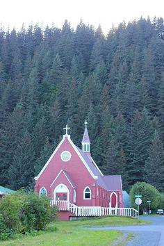 Church in Seward, Alaska Seaside Seward and riding the Alaska Railroad via The World on my Necklace