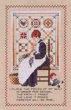 Knitting, crochet, embroidery, sewing and tons of inspiration for your next project. Cross Stitch Samplers, Cross Stitch Charts, Cross Stitching, Cross Stitch Embroidery, Cross Stitch Patterns, Quilts Online, Amish Quilts, Christmas Cross, Needle And Thread