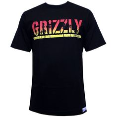 Grizzly Griptape Sunset Stamp T-Shirt Black