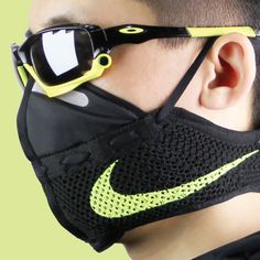 Juggling between his job as a creative director and a designer, Zhijun Wang of Beijing's ZJ Design was able to find some free to create a handy running Mouth Mask Fashion, Fashion Face Mask, Motorcycle Face Mask, Nike Flyknit Racer, Cool Masks, Respirator Mask, Protective Mask, Nike Acg, Hunting Gear