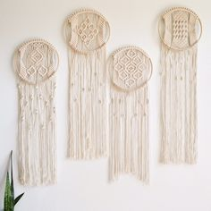 Macrame Hoops now available! Macrame Plant Holder, Macrame Plant Hangers, Macrame Wall Hanging Patterns, Macrame Patterns, Macrame Cord, Macrame Knots, Macrame Bag, Macrame Design, Macrame Projects
