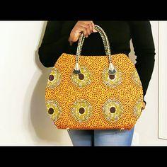 Ankara orange avec sac noir & or prix réduit