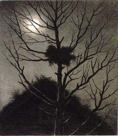 Theodor Kittelsen - Illustrasjon til Svartedauen, Kristiania 1900
