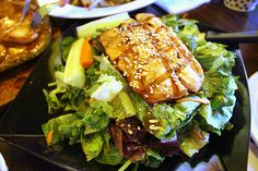 I Ate This content tagged with salad Tea Cafe, Salmon Salad, Salmon Burgers, Steak, Bbq, Good Food, Drink, Ethnic Recipes, Barbecue