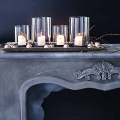 Christmas Diy, Winter Wonderland, Decor, Christmas, Dekoration, Candle  Holders, Advent Calenders, Black, Home