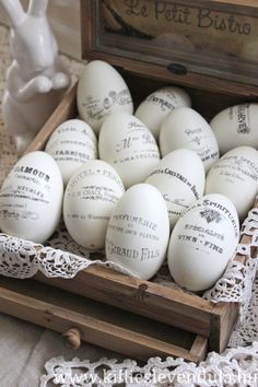 Today's reader feature are these lovely Vintage Easter Goose Eggs, submitted by our friend Evi. She transferred my Paris Apartment Sign image, French Typography, Flower Seller, Wine Theme, Hotel Sign, and Paris Maison image onto the eggs. In order for the image to fit onto the eggs, Evi had to first make the image smaller. Next she cut...Read More »