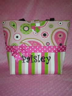 handmade monogram diaper bags and totes.  http://www.facebook.com/pages/BabyBagBoutique/147324501516  http://stores.ebay.com/BabyBagBoutique