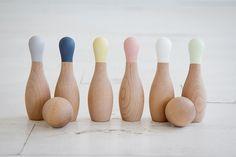 Little Wooden Bowling Set