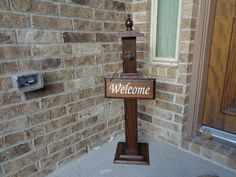 WELCOME POST 3 Welcome Sign Included Wooden Welcome by LLDMDesigns