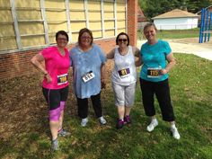We made it - mom's day run !! Thanks - Kathy, Mary, Sheli and I