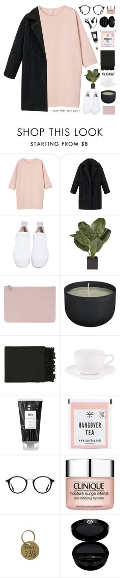 """i'll be your gift"" by ruthaudreyk ❤ liked on Polyvore featuring Monki, Windsor Smith, Alexander McQueen, CB2, Surya, Zara Home, R+Co, Ray-Ban, Clinique and Jayson Home"