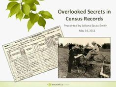 You might be missing important family history clues in the census records you've already found. Watch this FREE webinar to see what else you can learn that will help you in your genealogy research.