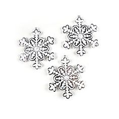 White Glitter Snowflake Ornaments, 4-Pack at Big Lots.