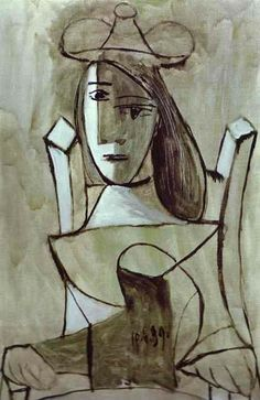 1939 Pablo Picasso (Spanish artist, 1881–1973) Young Girl Struck by Sadness.