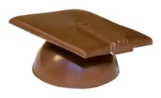 Chocolate Graduation Cap. Available in milk, dark and white chocolate.