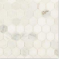 "Cabot Marble Mosaic - Carrara Marble Series Arabescato Carrara Octagon / 2"" / Honed"