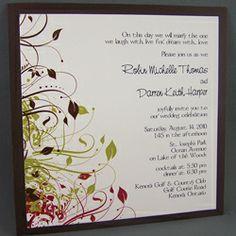 Fall Colours Wedding Invitation