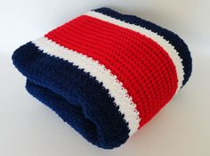 Crochet Stadium Sports Afghan Blanket Throw by KnitKnacksCreations