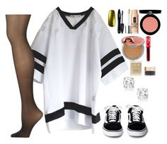 """""""Untitled #8096"""" by gabriellewidger ❤ liked on Polyvore featuring Calvin Klein, Cirque Colors, Lime Crime, Stila, TheBalm, Armani Beauty, Clinique and Lancôme"""