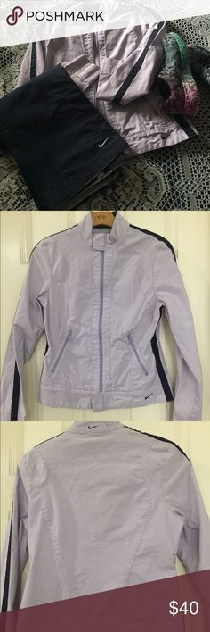 👟Nike women's tracksuit 👟 Purple and navy blue Nike tracksuit. Perfect for spring.🌸🌺 in great condition Nike Pants Track Pants & Joggers