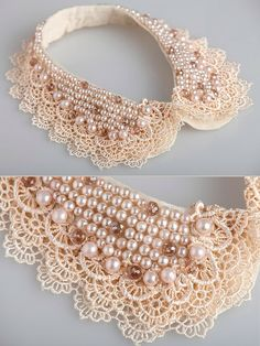 Awesome 39 DIY Collar Sewing Ideas to Help You Create Your Own Unique Collar Diy Jewelry, Jewelery, Handmade Jewelry, Jewelry Making, Beaded Collar, Collar And Cuff, Diy Necklace, Collar Necklace, Sewing Collars