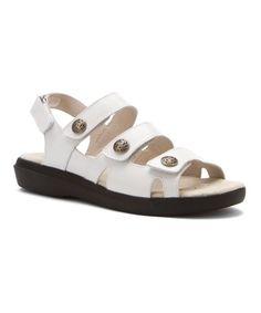 White Bahama Leather Sandal