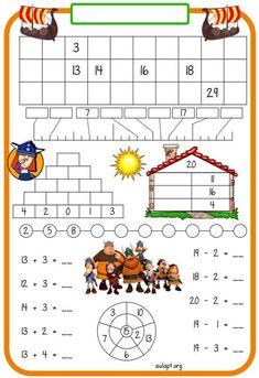 math brownie z mikrofali - Brownie Montessori Math, Preschool Curriculum, Kindergarten Math, Teaching Math, Math Games, Math Activities, Math Drills, Math Sheets, 1st Grade Math
