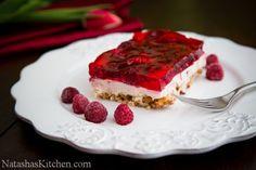 Raspberry Pretzel Jello-17