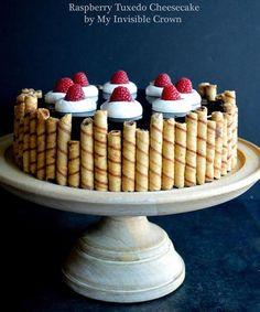 Impresionante tarta de queso y fresas