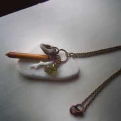 Cluster Necklace Natural Neutral Found Objects