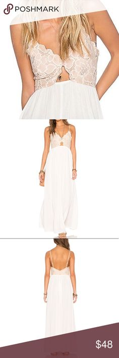 """Floral Cutout Bryce Maxi DRESS BRAND NEW!! Decidedly romantic in nature, this Empire-waist maxi dress features a scalloped lace bodice with a playful cutout and a shirred skirt designed to billow softly in the breeze. Pls note: this is an austin gal boutique item.🌟Similar style by Tularosa.🌟65% Cotton/35% Nylon.   S: Bust: 32.3""""/Length: 44.1"""" M: Bust: 33.8""""/Length: 44.6""""  🌟🌟Item is Brand New, direct from the Manufacturer, & Sealed in Pkg. 🌟🌟 austin gal Dresses Maxi"""