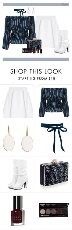 """Modern Stripes"" by gemique ❤ liked on Polyvore featuring malo, Wilbur & Gussie, Bobbi Brown Cosmetics, Smashbox and modern"