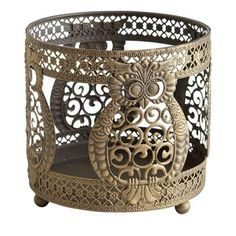 Pier 1 Owl Candle Sleeve
