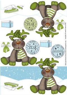 Christmas Deer on Craftsuprint - Add To Basket!