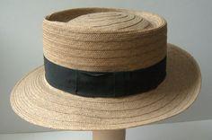 straw hat...