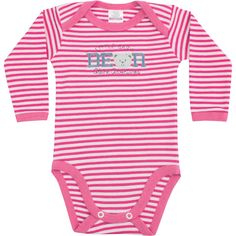 Body de Bebê Menina Listrado Pink - Best Club :: 764 Kids | Roupa bebê e infantil