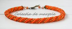 Jewelry Collection, Beaded Jewelry, Beading, Orange, Crochet, Bracelets, Beads, Pearl Jewelry, Ganchillo