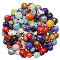 140 Stück und mehr KeramikPerlen Keramik Perle mit herrlichem Perlmutt Schimmer mit ca. 3 Meter hellem Lederband Fädelschnur Janni-Shop®-Deko & Schönes http://www.amazon.de/