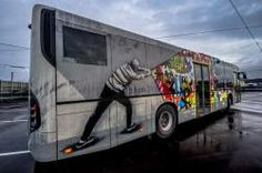 Over the last few years, street art invaded our universes and now occupies common space, like buses. A good example with the international festival NuArt, that Bus Advertising, International Festival, Public Transport, Drawing S, Playground, Norway, Scary, Transportation, Street Art