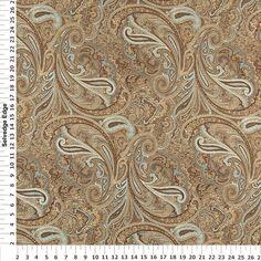 Robert Allen Patna Paisley Fawn Decorator Fabric - Upholstery Fabric Prints