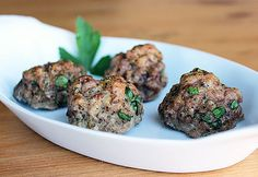 Meatballs: For an easy snack, make this Paleo meatball recipe ahead of time, and pop them in your fridge or freezer for easy prep when cravings strike.  Carbs per serving: 3 grams