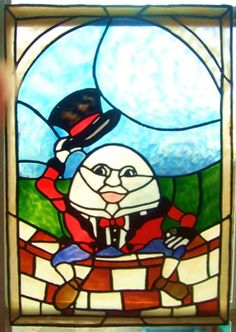 Humpty Dumpty faux stained glass