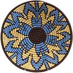 African Basket - Rwanda Sisal Coil Weave Bowl - 12 Inches Across - #56915