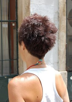 Short Pixie Haircut for Summer - Back View of Short Pixie Cut