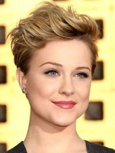 Short Pixie Cuts Round Face Simple And Easy Styling , This Style Is Using Thinning Scissor For Cut The Hair Point To Impress Sharp Look, short haircuts, short hairstyles for round faces and thick hair ~ Hairs Styles Soo