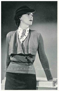 For Lady Edith to wear when she goes to work....free vintage knitting pattern